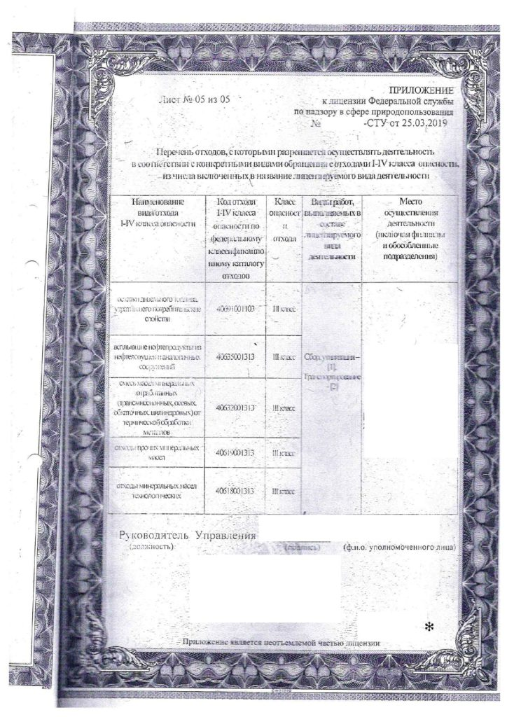 лицензия на утилизацию 6