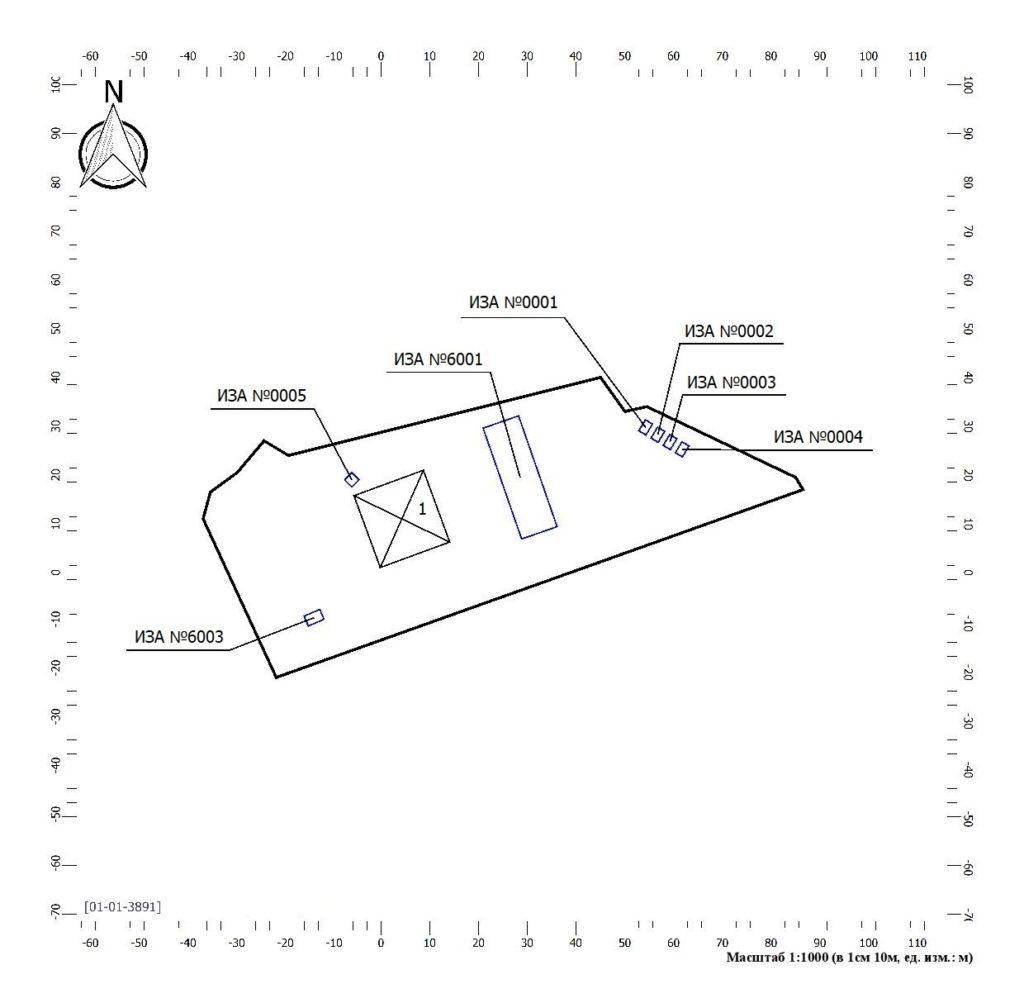 карта-схема с иза